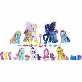 My Little Pony Luna Celestia Pony X7 + Spike Nuevos Sin Caja