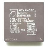 Microprocesador Amd 5x86 133mhz=p75 Overclock A 160mhz=p90