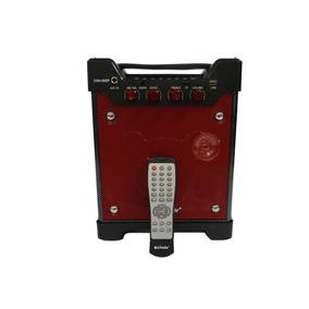 Caixa De Som Bluetooth Amplificada Karaokê 600w Vermelho
