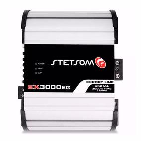 Módulo Amplificador Stetsom Ex 3000 Eq 3000w Rms Mono Rca