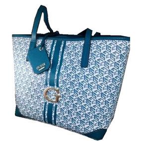 Bolsa Guess Sg466323-jad Color Azul Jade Material Pvc