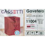 Gavetero Closet 4 Gavetas Dormitorio Color Cedro Mdf Formica