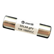 Fusible Solar 10x38mm Gpv 1000vcc 15a - Sfus-15 - Enertik