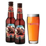 Kit 02 Cerveja Trooper Iron Maiden 330ml Copo Oficial 500ml