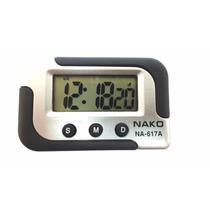 Relógio Digital Carro Automotivo Alarme Display Decorativo