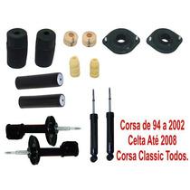 4 Amortecedores + Batentes Corsa Até 2002 Classic Celta