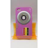 Capa Para Celular Iphone 4s/4g Linda Silicone (cor Rosa)