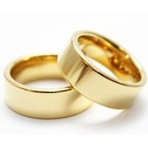 Par Alianças Anatômicas Noivado E Casamentos Cor Ouro