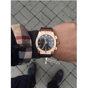 6019512cf0f Relógio Hublot Dourado Réplica - Relógios