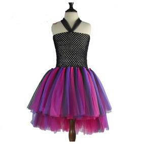 Vestido Fiesta Tul Nena Disfraz Tutu Dress Princesa Rockstar