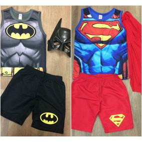 Roupa Infantil Batman Ou Super Homem