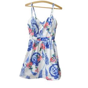 Vestido Feminino Estampa Azulejo Florido
