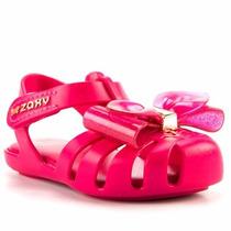 Sandália Infantil Feminina Zaxynina Docinho Rosa Pink