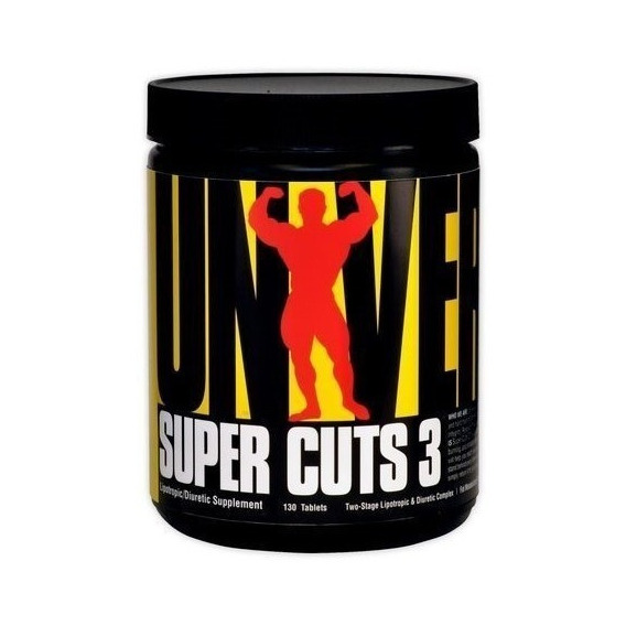 Super Cuts 3 130 Tabs Quemador De Grasas Importado-universal