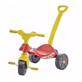Velotrol Triciclo Infantil Com Empurrador Promoção Biemme