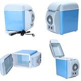 Nueva 12v Del Coche Azul Pequeño Refrigerador Mini Refriger