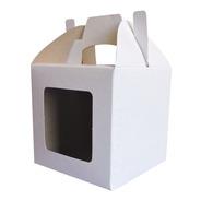 Cajita Feliz Cfz1 Ventana X 50u Packaging Blanco Madera