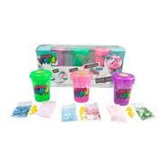 So Slime Shaker Polvo Glitter Rainbow 3 Pack Fluffy Glitter