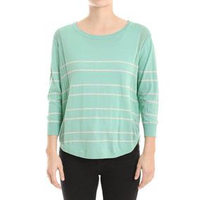 Sweater Rayado Calado Algodón