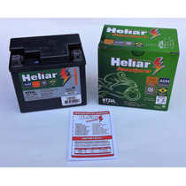 Bateria Moto Heliar Htz6 Titan/ Fan/ Bros/ Xre/ Ybr Factor