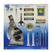 Microscopio Metal Gmpz C1200 Galileo Italy Con Luz Zoom Full