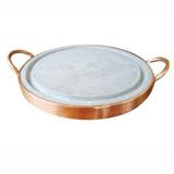 Chapa Picanheira Para Grelhar Carne Em Pedra Sabão 32cm
