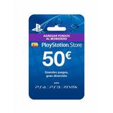 Psn Card 50 Euros (para Cuenta España - Playstation Network)
