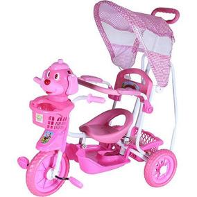 Triciclo Gangorra 3 Em 1 Cachorro Rosa Belfix 9107