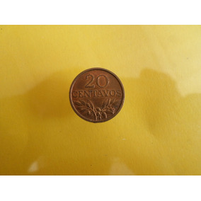 Moneda 20 Centavos 1969 Portugal Sin Circular