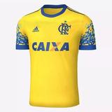 Nova Camisa Flamengo 2017 Amarela Pronto Entrega