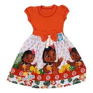 Vestido Moana Baby Infantil Tema Aniversário Roupa/fantasia