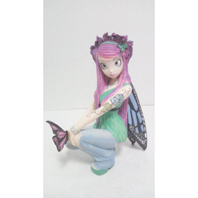 Hermosa Figura De Hada En Resina De La Coleccion Myka Jelina