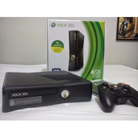 Xbox 360 Rgh Slim 4g Semi-novo Na Caixa + 2 Controles
