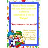 05 Convites Personalizados Palhaço Patati E Patatá