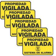 Cartel Alarma Domiciliaria Propiedad Protegida