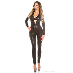 Catsuit Jumpsuit Enterito Transfer Manga Larga Doble Cierre