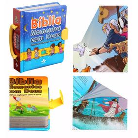 Bíblia Infantil Momentos Com Deus Capa Almofadada E Alça