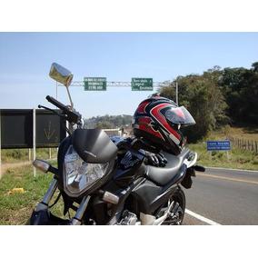 Capacete Nbr7471 Ls2 On Road Cut Throat Ff350 Preto/vermelho