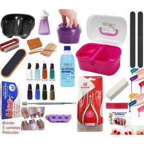 Kit Manicure Maleta Esmaltes Acessórios Pedicure 40 Pç Unha-