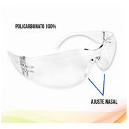 Lentes Goggles De Seguridad Y Protección Mica Transparente