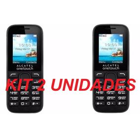 Celular Alcatel 1052 Kit 2 Unid Tela Botões Grandes Simples