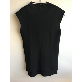 Polera Camiseta Tejida Sweater Sin Manga Zara Talla M