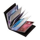 Carteira Unisex Para 12 Cartões De Crédito + Por Ta Dinheiro
