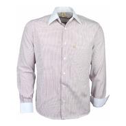 Camisa Masculina Social Djak Punhos E Colarinho Branco 183