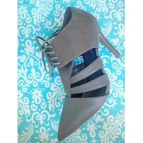 Zapatos Tacones Wild Diva Tipo Botín Bota Punta Fina Aguja