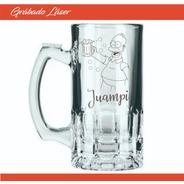 Vasos Vidrio X 6u Personalizado Vaso Chopp Cerveza 375ml