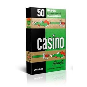 Naipes X 50 Cartas Estilo Español 2 Casino Plastificadas