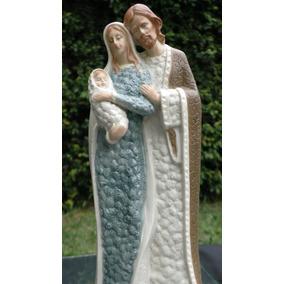 Sagrada Familia En Porcelana Horneada Estilo Moderno