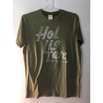 Camiseta Tshirt Hollister California Surf Masculina Verde M
