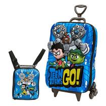 Mochila Escolar Mochilete 3d Teen Titans Go! + Lancheira